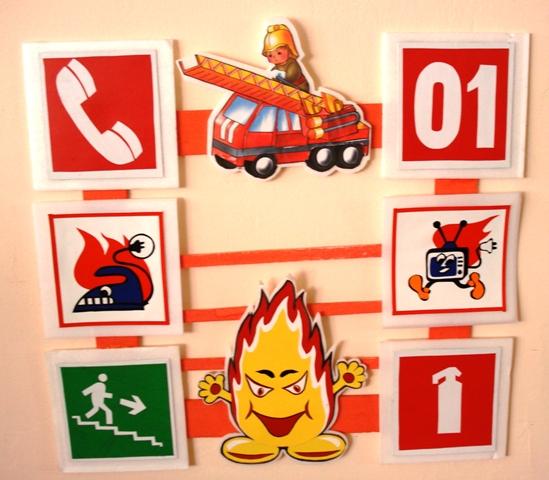 Уголок по пожарной безопасности своими руками